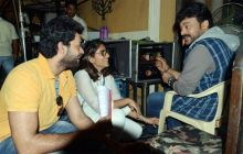 Chiranjeevi on the sets of Chiru 150