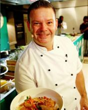 Gary Mehigan presents a signature dish during the food fest.