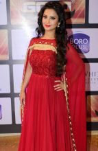 Adaa Khan, one of TV's favourite naagins, won an award in Best Actress in Negative Role. She looks ravishing in red.