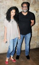 Gauri Shinde and R Balki at Udta Punjab screening