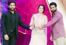 Charmi Kaur, Jr NTR, Allu Arjun at CineMAA Awards 2016.