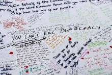 Messages for murdered Labour Member of Parliament Jo Cox