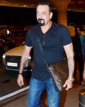 Sanjay Dutt at the Mumbai international airport