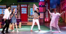 Team Do Lafzon Ki Kahani team shake a leg on the sets of TKSS.
