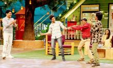 Sairat team having fun on the sets of The Kapil Sharma Show.