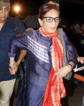 Salma Khan at the Mumbai international airport