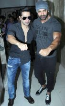Varun Dhawan and John Abraham were busy promoting Dishoom.