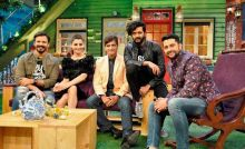 Great Grand Masti team--Vivek Oberoi, Riteish Deshmukh, Aftab Shivdasani, Urvashi Rautela and the director of the film Indra Kumar visited the sets of The Kapil Sharma Show to promote their upcoming film.
