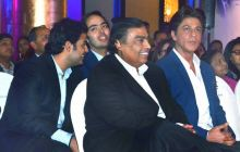 Mukesh Ambani and Shah Rukh Khan