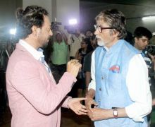 Irrfan and Amitabh Bachchan at Madaari screening