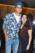 Vicky Kaushal and Bhumi Pednekar at Madaari screening