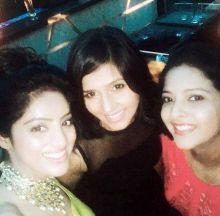 Deepika Singh, Dalljiet Kaur at the reception