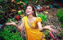 Divyanka welcoming her future happiness with open arms.