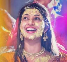 On top of the world: Haldi giving Divyanka a different kind of high?