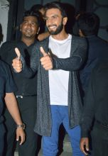 Ranveer Singh was clicked by the photographers at the party.