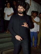 Pakistani actor Fawad Khan stopped by at the party.