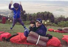 Hrithik Roshan with sons in Africa