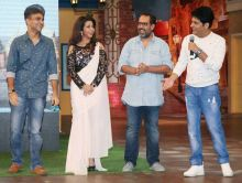 Team Happy Bhaag Jaayegi with Kapil Sharma.
