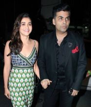 Karan Johar and Alia Bhatt were clicked attending the party.