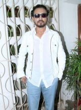 Irrfan was spotted at the launch of the latest issue of a film magazine in Mumbai.