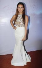 Sanaa Khan looks lovely in this white outfit.