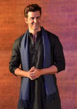 Hrithik Roshan was dressed in a traditional attire at the promotional event in Mumbai.