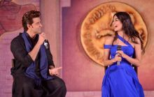 Pooja Hegde laughs at Hrithik's wisecracks at the event.