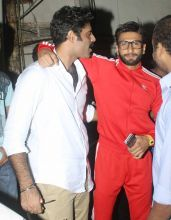 Ranveer Singh bonds with Sikander Kher during the screening of 24 Season 2.