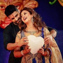 This lovely pose will remain the most memorable snap from their sangeet album.