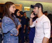 Sonam Kapoor and Varun Dhawan at the screening of Dishoom