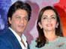 Shah Rukh Khan and Anita Ambani at the book launch.