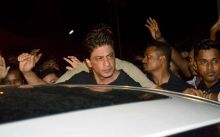 Shah Rukh Khan was seen at the party in Mumbai.