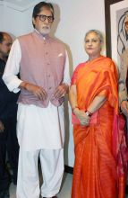 Amitabh Bachchan and Jaya Bachchan at an art exhibition