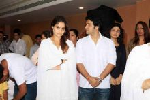 Krushna's sister and actress Arti Singh during the prayer meet.
