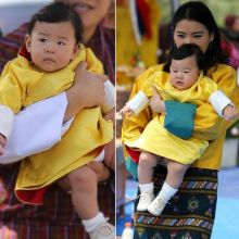 Queen Jetsun Pema with the little prince.