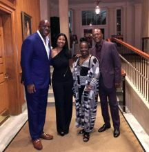 Magic johnson,Cookie,Samuel L Jackson and LaTanya Richardson