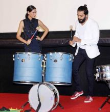 Riteish Deshmukh and Nargis Fakhri were clicked at the trailer launch of Banjo in Mumbai.