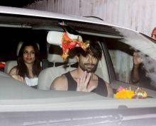 Bipasha Basu and Karan Singh Grover in Juhu