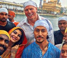 Remo D'Souza, Tiger Shroff and Jacqueline Fernandez at Golden Temple