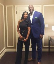 Magic Johnson and his wife Cookie