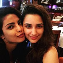 Priyanka Chopra and Parineeti Chopra in US