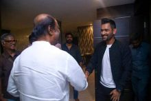 Rajinikanth and MS Dhoni