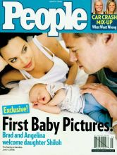June 19, 2006 cover of People Magazine featuring Angelina, Brad and their baby Shiloh.