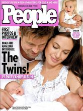 Brad, Angelina and their twins Knox Leon and Vivienne Marcheline.