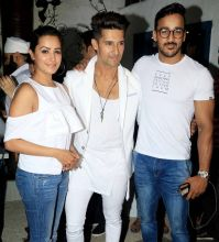White gang: Anita Hassanandani, Ravi Dubey and Rohit Reddy.
