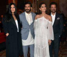 Rhea Kapoor, Harshvardhan Kapoor, Sonam Kapoor and Anil Kapoor at Mirzya music launch