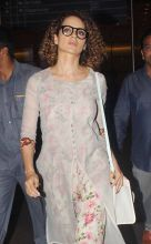 Kangana Ranaut at Mumbai international airport