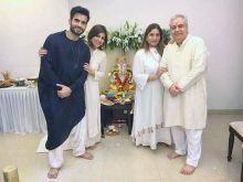 It's family puja for TV actor Karan Tacker.