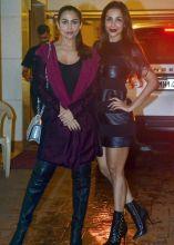 Malaika Arora Khan and Amrita Arora at Kareena Kapoor Khan's birthday bash