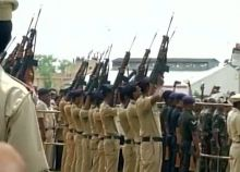 Gun salute for Sepoy Uike Janrao